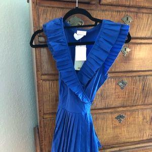 Love Ady Royal Blue Wrap Dress